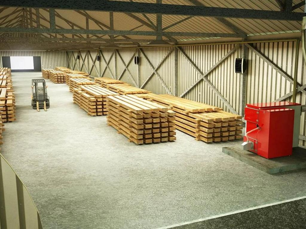 Монтаж систем отопления на складе